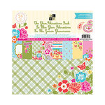 Die Cuts with a View - Glam Rhinestone Collection - Paper Stack with Jewel Accents - Brights - 12 x 12