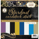 Die Cuts with a View - Stardust Collection - Foil Glitter and Textured Solid Cardstock Stack - 12 x 12