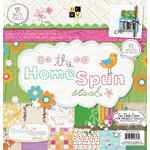 Die Cuts with a View - Homespun Collection - Glitter Paper Stack - 12 x 12