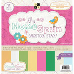 Die Cuts with a View - Homespun Collection - Glitter Metallic and Textured Solid Cardstock Stack - 12 x 12