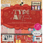 Die Cuts with a View - A Type of Art Collection - Gloss Paper Stack - 12 x 12