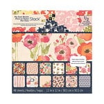 Die Cuts with a View - Sweet Blossoms Collection - Textured Paper Stack - 12 x 12