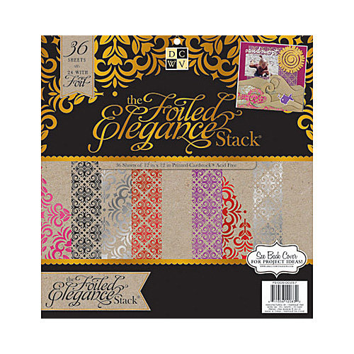 Die Cuts with a View - Foiled Elegance Collection - Foiled Paper Stack - 12 x 12