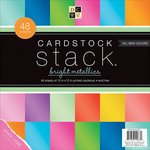 Die Cuts with a View - Cardstock Stack - White Core - 12 x 12 - Bright Metallics