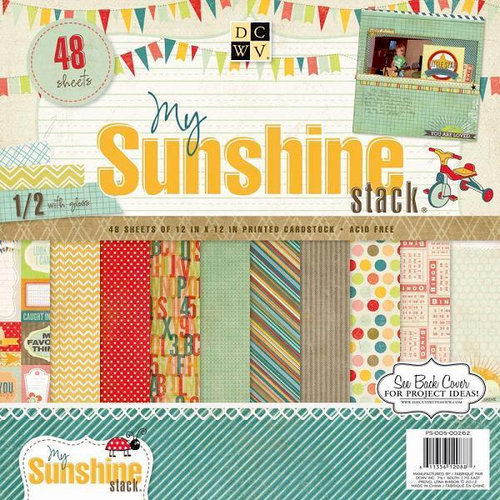 Die Cuts with a View - My Sunshine Collection - Gloss Paper Stack - 12 x 12