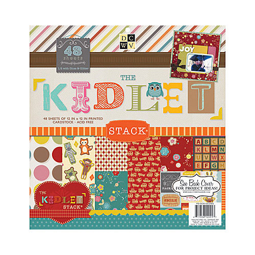 Die Cuts with a View - Kidlet Collection - Glitter and Gloss Paper Stack - 12 x 12