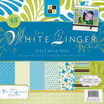 Die Cuts with a View - White Ginger Collection - Foil Paper Stack - 12 x 12