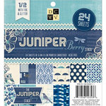 Die Cuts with a View - Juniper Berry Collection - Glitter and Foil Paper Stack - 12 x 12