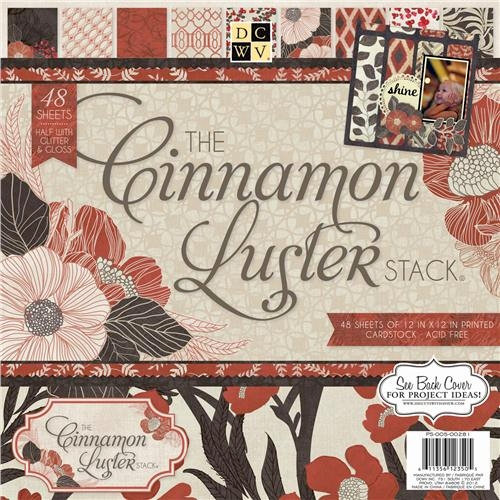 Die Cuts with a View - Cinnamon Luster Collection - Glitter Paper Stack - 12 x 12