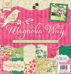 Die Cuts with a View - Magnolia Garden Collection - Glitter and Gloss Paper Stack - 12 x 12