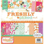 Die Cuts with a View - Freshly Picked Collection - Glitter Paper Stack - 12 x 12