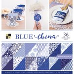 Die Cuts with a View - Blue China Collection - Paper Stack - 12 x 12