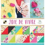 Die Cuts with a View - Joie De Vivre Collection - Paper Stack - 12 x 12 With Foil Accents
