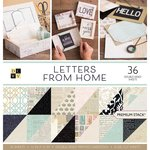Die Cuts with a View - Letters from Home Collection - Paper Stack - 12 x 12
