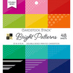 Die Cuts with a View - Bright Prints - Double Sided Paper Stack - 6 x 6