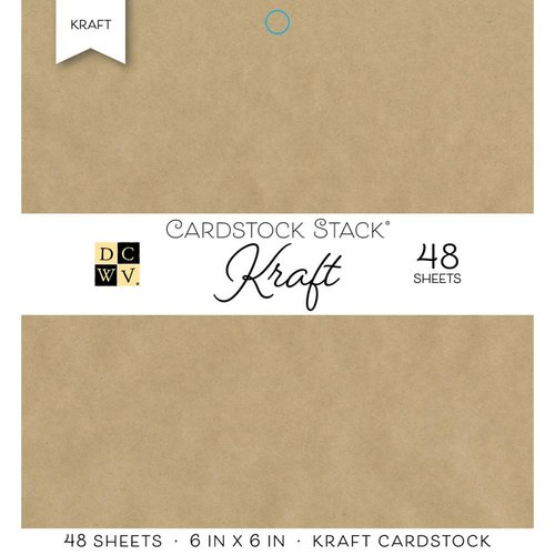 Die Cuts with a View - Kraft - Paper Stack - 6 x 6