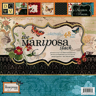 Die Cuts with a View - The Mariposa Collection - Glitter and Foil Paper Stack - 12 x 12