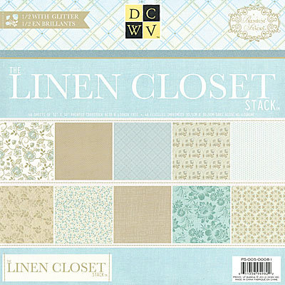 Die Cuts With A View   Linen Closet Collection   Glitter Paper Stack   12 X  12