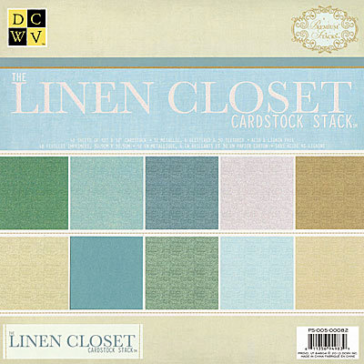 Die Cuts with a View - Linen Closet Collection - Glitter and Metallic Solid Cardstock Stack - 12 x 12