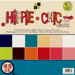 Die Cuts with a View - Hippie Chic Collection - Glitter Cardstock Stack - 8 x 8, CLEARANCE