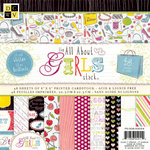 Die Cuts with a View - The All About Girls Collection - Glitter Paper Stack - 8 x 8