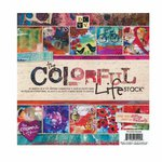Die Cuts with a View - The Colorful Life Collection - Glitter and Foil Paper Stack - 8 x 8