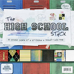 Die Cuts With A View - High School Collection - 12 x 12 Paper Stack