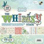 Die Cuts with a View - Whimsy Collection - Glossy Glitter Paper Stack - 12 X 12, CLEARANCE