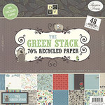 Die Cuts with a View - Green Woodland Collection - Recycled Paper Stack - 12 X 12