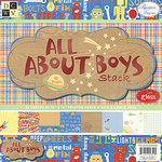 Die Cuts with a View - All About Boys Collection - Gloss Paper Stack - 12 X 12