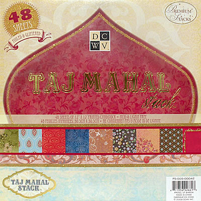 Die Cuts with a View - Taj Mahal Collection - Foiled and Glittered Paper Stack - 12 X 12