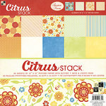 Die Cuts with a View - Citrus Collection - Glitter Paper Stack - 12 X 12, CLEARANCE