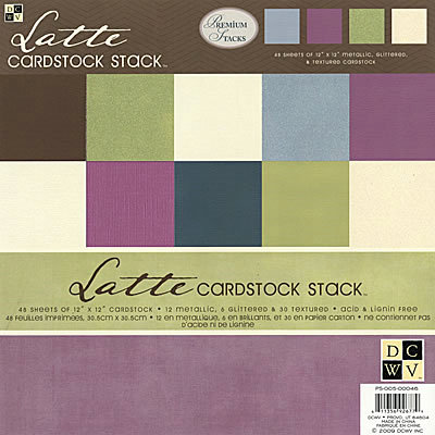 Die Cuts with a View - Latte Collection - Textured Solid Cardstock Stack - 12 X 12, CLEARANCE