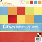 Die Cuts with a View - Citrus Collection - Textured Solid Cardstock Stack - 12 X 12, CLEARANCE