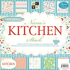 Cuts with a View - Nana\'s Kitchen Collection - Glitter Paper Stack ...