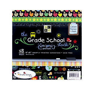 Die Cuts With A View - Grade School Collection - 8 x 8 Paper Stack, CLEARANCE