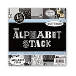 Die Cuts With A View - 8 x 8 Alphabet Paper Stack, CLEARANCE