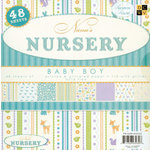 Die Cuts With A View - Nana's Nursery Baby Boy Collection - Glitter Paper Stack - 8x8, CLEARANCE