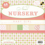 Die Cuts With A View - Nana's Nursery Baby Girl Collection - Glitter Paper Stack - 8x8, CLEARANCE