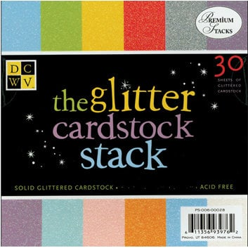 Die Cuts With A View - Glitter Cardstock Stack - 8x8, CLEARANCE