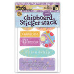 Die Cuts with a View - Pocket Full of Posies - Chipboard Sticker Stack, CLEARANCE