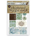 Die Cuts with a View - Old World - Chipboard Sticker Stack, CLEARANCE