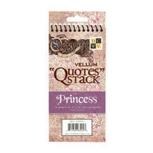 Die Cuts with a View - Once Upon A Time Collection - Vellum Quote Stack - Princess