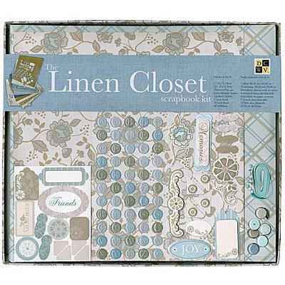 Die Cuts with a View - Linen Closet Collection - 12 x 12 Scrapbook Album and Box Kit