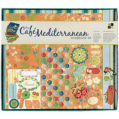 Die Cuts with a View - Cafe Mediterranean Collection - 12 x 12 Scrapbook Album and Box Kit