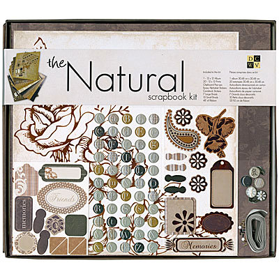 Die Cuts with a View - The Natural Collection - 12 x 12 Scrapbook Album and Box Kit