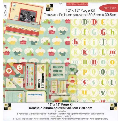 Die Cuts with a View - 12 x 12 Page Kit - Birthday