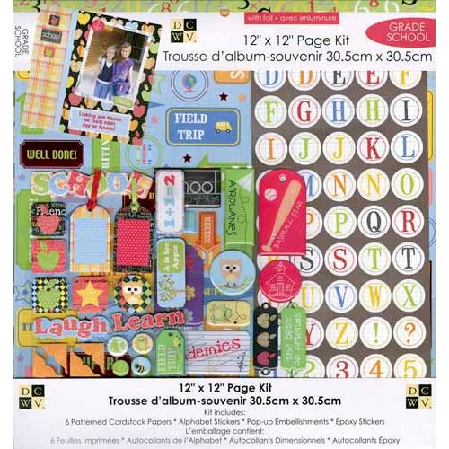 Die Cuts with a View - 12 x 12 Page Kit - Grade School