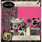 Die Cuts with a View - The Street Lace Collection - 12 x 12 Page Kit with Glitter Accents