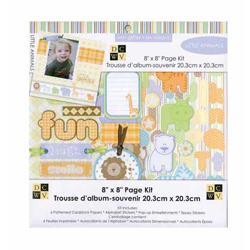 Die Cuts with a View - 8 x 8 Page Kit - Little Animals